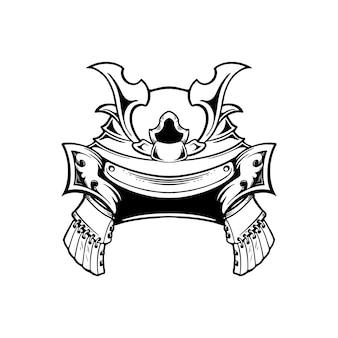 Illustrazione casco da samurai giapponese