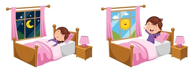 Illustrazione del bambino che dorme