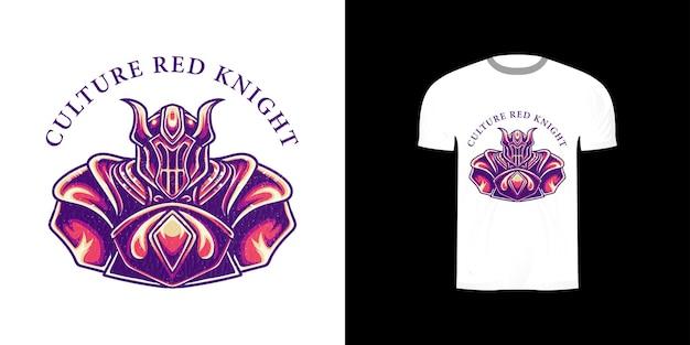 Cavaliere di illustrazione per il design della maglietta