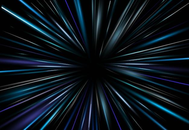 Illustrazione effetto luce blu scuro sfondo astratto chiaro. laser aura a fascio rey