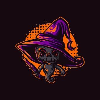 Illustrazione little dark witch