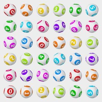 Illustrazione delle palle della lotteria.