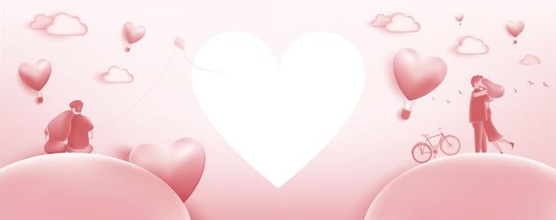 Illustrazione dell'amore. la festa di san valentino. illustrazione