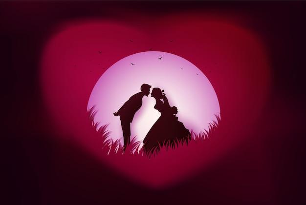 Illustrazione dell'amore e del giorno di san valentino.