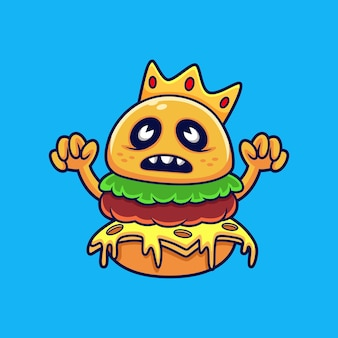 Illustrazione di monster king burger