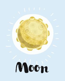 Illustrazione di una luna,
