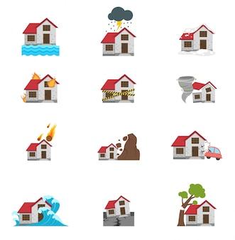 Illustrazione dell'icona di disastro naturale