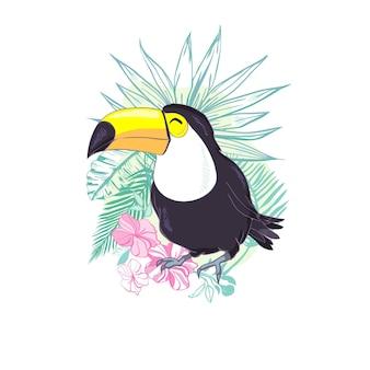 Un'illustrazione di un simpatico tucano.
