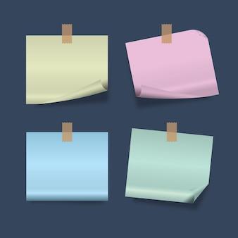 Illustrazione di carta per appunti con adesivo