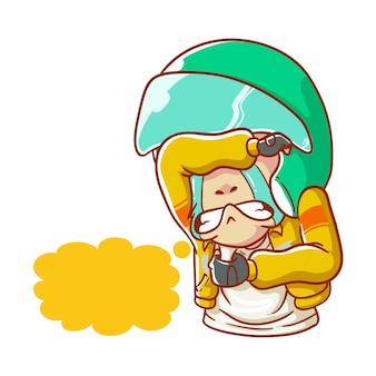 Illustrazione taxi in linea che piange triste cuore spezzato disegnato a mano in stile cartone animato da colorare
