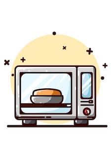 L'illustrazione del disegno a mano del forno