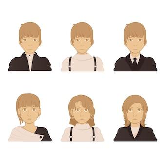 Pacchetto di illustrazioni avatar