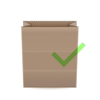 Illustrazione del sacchetto della spesa di carta, borsa di ecologia