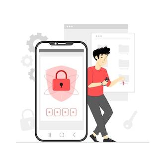 Illustrazione della sicurezza dei dati personali