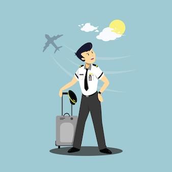 Illustrazione di un personaggio pilota