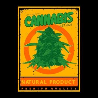 Illustrazione pianta cannabis