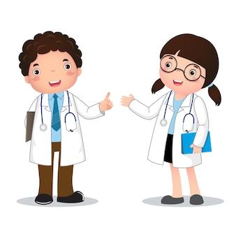 Illustrazione del costume di professione del medico per bambini