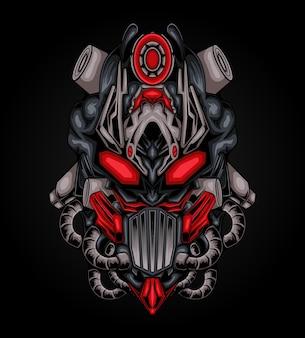 Lo stile cyborg robotico dell'illustrazione