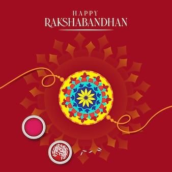 Illustrazione di vendita e promozione banner poster con rakhi decorativo per raksha bandhan indian fe