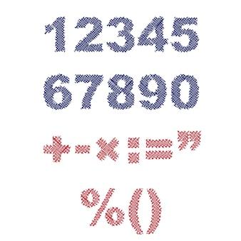 Illustrazione di numeri disegnati a penna schizzo