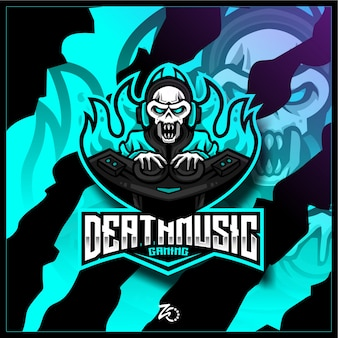 Illustrazione skull music gaming