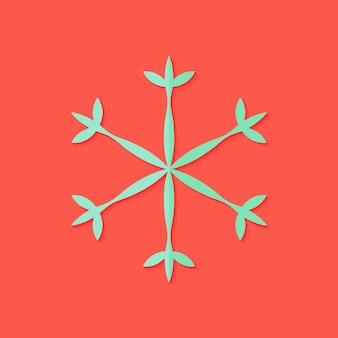 Illustrazione dell'icona piana di natale del fiocco di neve