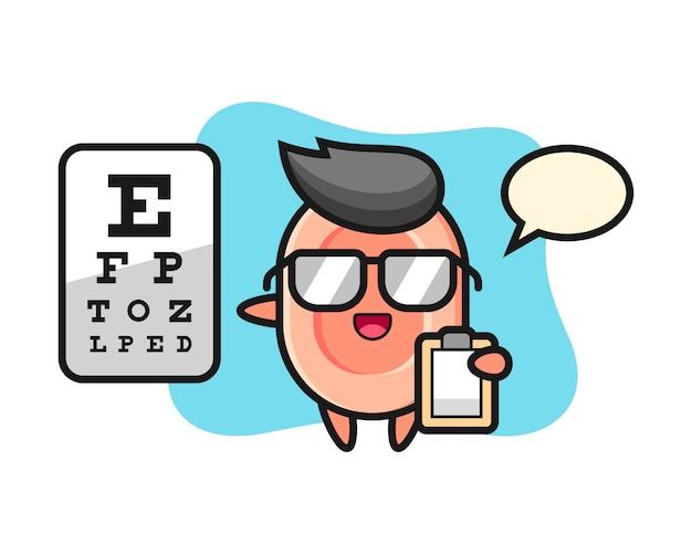Illustrazione della mascotte del sapone come oftalmologia, stile sveglio per la maglietta, adesivo, elemento di logo