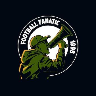 Illustrazione del fanatico dei tifosi di calcio