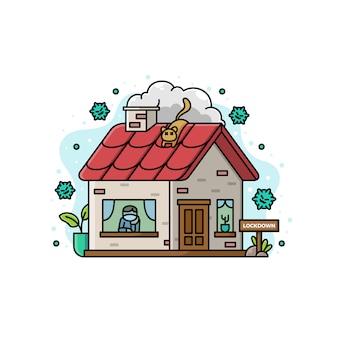 Illustrazione di stare a casa