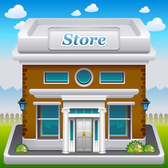 Illustrazione dell'icona del negozio