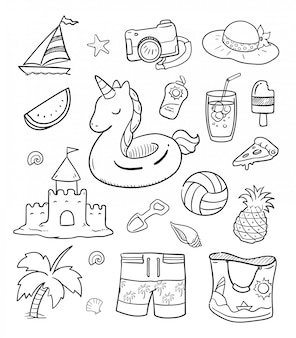 Doodle estate illustrazione