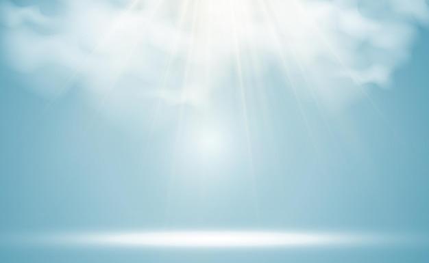 Illustrazione del sole che splende attraverso le nuvole
