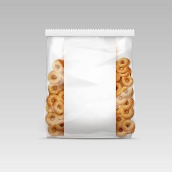 Illustrazione di anelli orn dolci nel modello di pacchetto