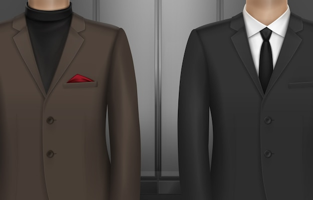 Illustrazione di due uomini in abito classico