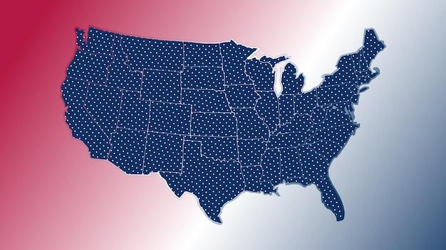 Illustrazione della mappa degli stati uniti vector