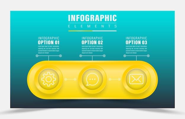 Illustrazione vettoriale di design infografica elemento principale dell'idea