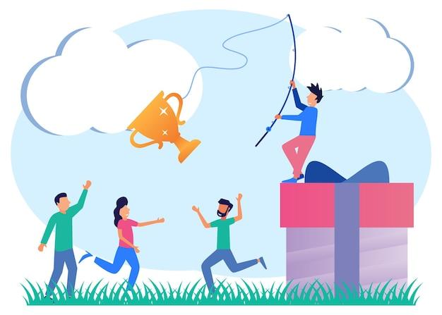Personaggio dei cartoni animati grafico vettoriale illustrazione dei risultati aziendali