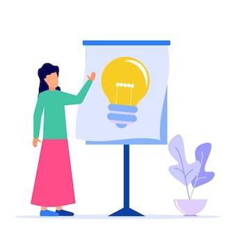 Personaggio dei cartoni animati grafico vettoriale illustrazione dell'idea imprenditoriale