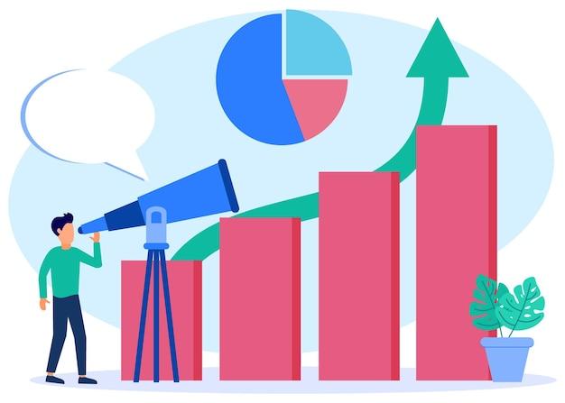 Personaggio dei cartoni animati grafico vettoriale illustrazione della visione aziendale