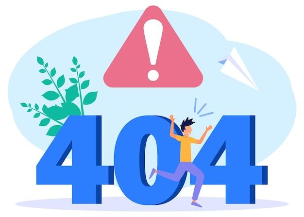 Illustrazione grafica vettoriale personaggio dei cartoni animati di non connesso