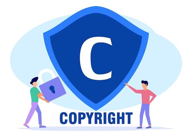 Illustrazione grafica vettoriale personaggio dei cartoni animati di copyright