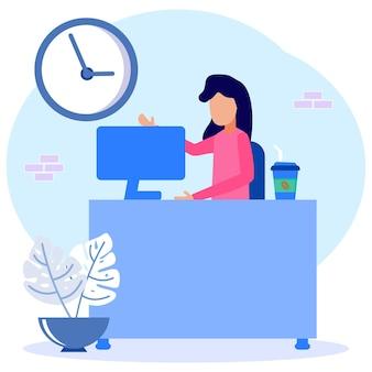 Personaggio dei cartoni animati grafico vettoriale illustrazione di freelance