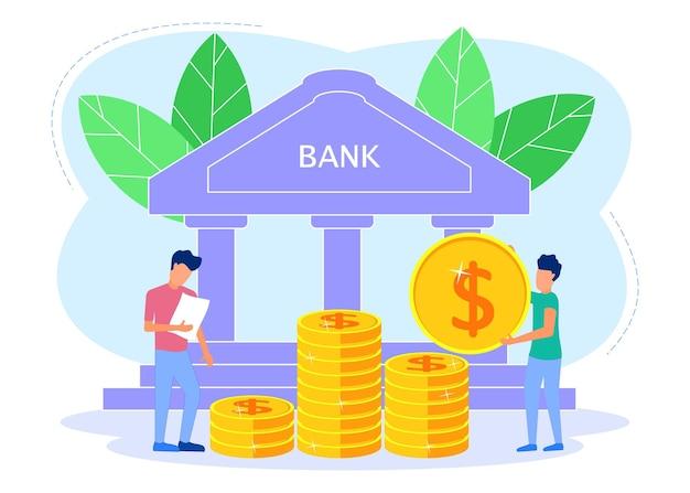 Illustrazione grafica vettoriale personaggio dei cartoni animati di risparmio di denaro