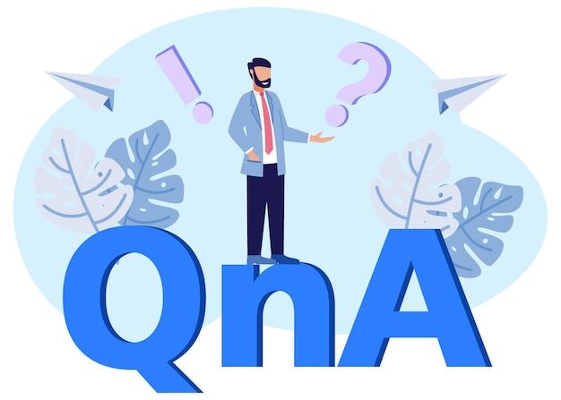Illustrazione grafica vettoriale personaggio dei cartoni animati di qna