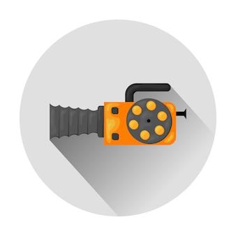 Illustrazione dell'icona della videocamera isolato su bianco /