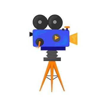 Illustrazione dell'icona della videocamera isolata