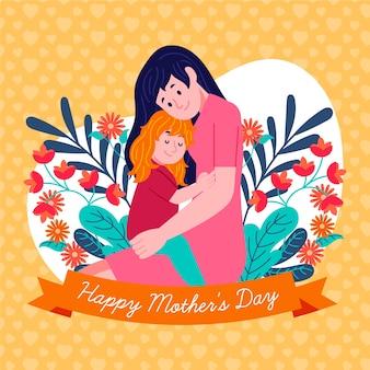 Illustrazione con la festa della mamma