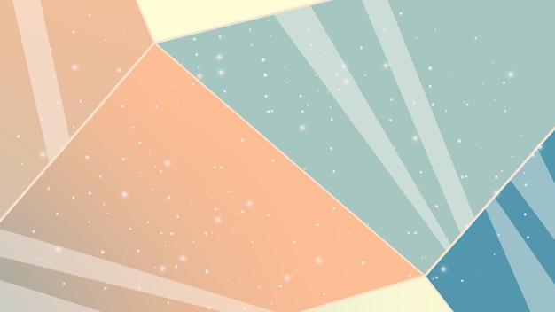 Illustrazione con stelle e cristalli sfondo astratto con linee cielo notturno astrazione cosmica