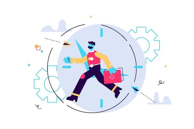 Illustrazione della gestione del tempo di lavoro