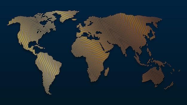 Illustrazione della mappa del mondo vector